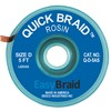 DESOLDERING BRAID, QUICK BRAID, 0.100'' x 5' (2.54 MM x 1.524 M), ANTISTATIC, 25/PK